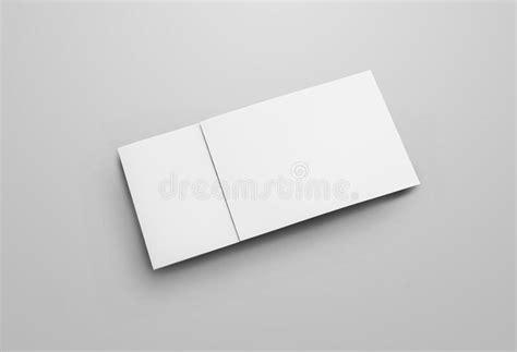 blank white folding paper flyer stock image image