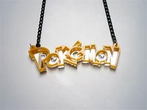 yellow pokemon necklace pokeball acrylic and mirror pendant copy