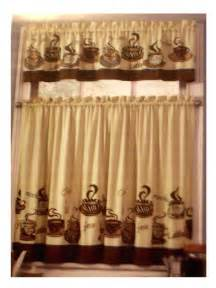 kitchen cafe curtains ideas coffee themed kitchen curtains tiers valance set
