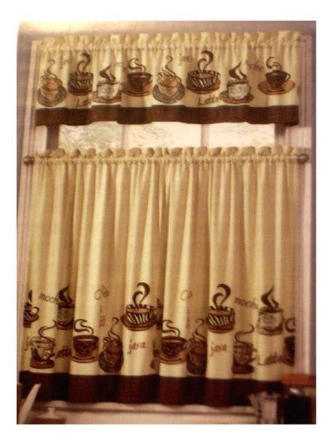 canisters kitchen decor coffee themed kitchen curtains tiers valance set