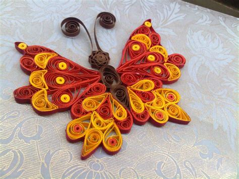 love crafts  quilled butterfly embellishment
