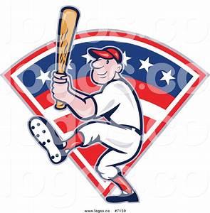 Royalty Free Baseball Player Stock Logo Designs