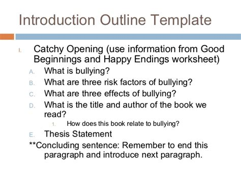 introduction paragraph template how to outline an introductory and concluding paragraph