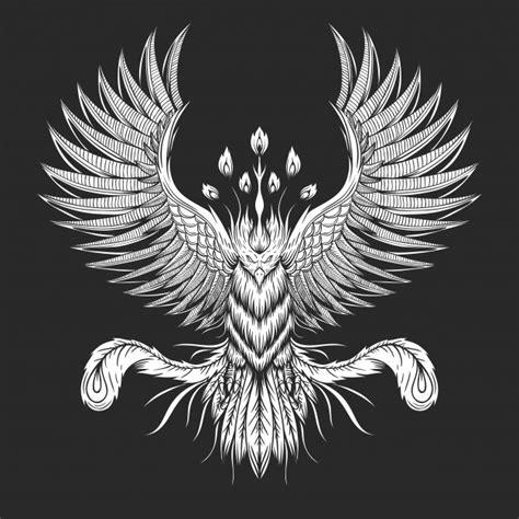 Recently the new phoenix animal was added to mope! Phoenix bird illustration | Premium Vector