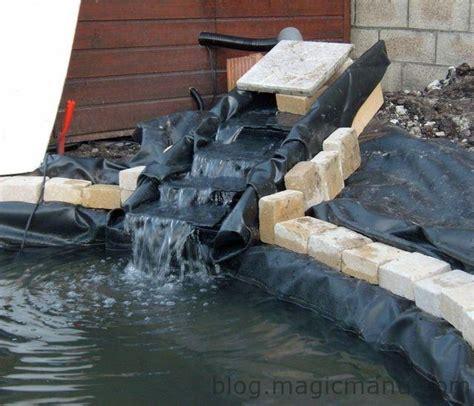faire une cascade en pierres bassin bassin de jardin la cascade