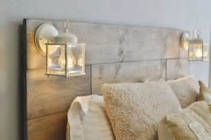 wood headboard with white built in lighting cordoba rustic headboards headboards and wood
