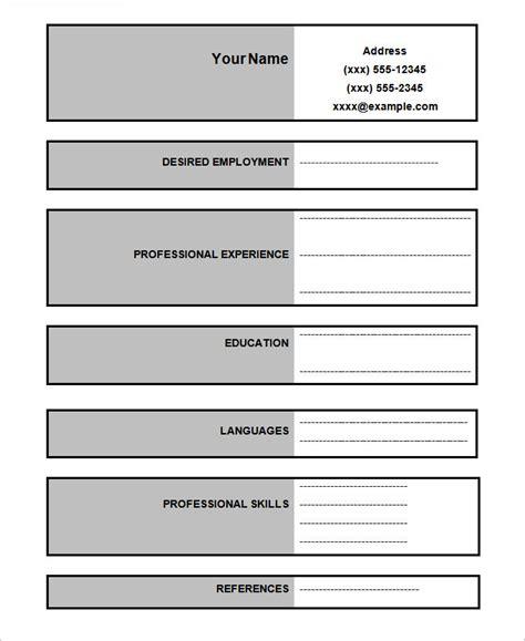resume format blank 46 blank resume templates doc pdf free premium