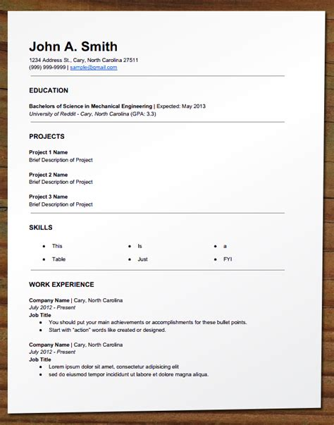 Objective For Part Time For College Student by Free Your Resume Entry Level Resume Engineering