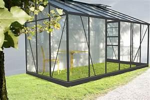 Serre Acier Verre : serre adossable en verre avec sa base ~ Premium-room.com Idées de Décoration