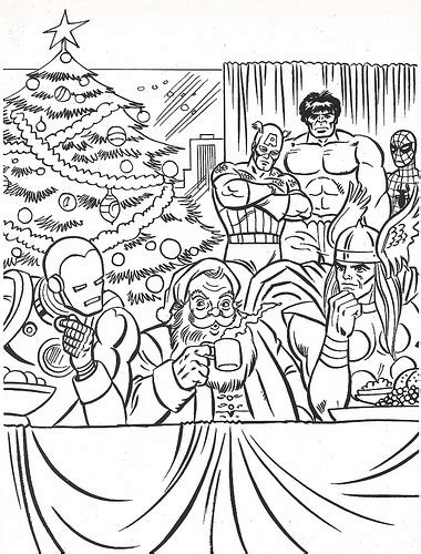 marvel christmas coloring pages festival collections