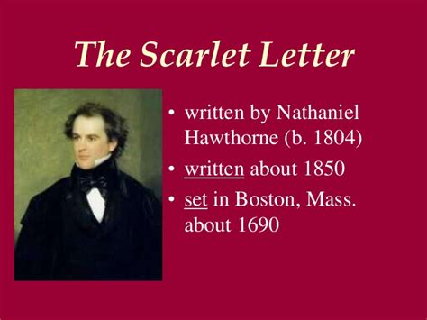 when was the scarlet letter written the scarlet letter