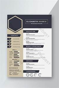 Navy Blue Creative Resume Cv Template Design For Interview