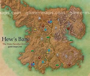 Hew's Bane Map - The Elder Scrolls Online game-maps com
