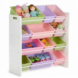 Honey-can-do, Kids, Toy, Storage, Organizer, With, Bins, White, Pastel-srt-01603