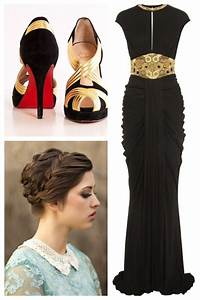 Chic Black (Alexander McQueen) and Gold formal dress | My ...