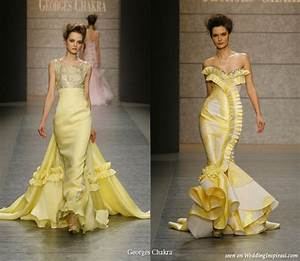 elegant yellow mermaid wedding dresses cherry marry With yellow dress for wedding