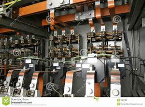 Electrical Control System In Factory Stock Image