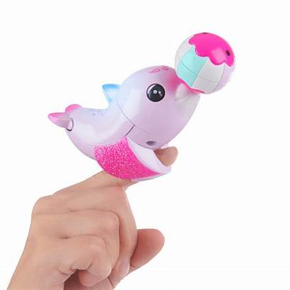 Dolphin Toy Pink Interactive Fingerlings Walmart Jules