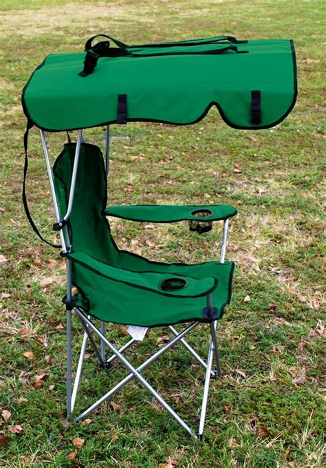 folding canopy chair beach camping chair xl outdoor camp chairs green ebay