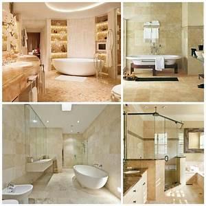carrelage travertin salle de bain et comment le choisir With salle de bain design avec vasque en pierre naturelle travertin