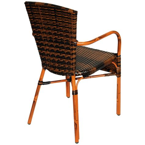 aluminum chair with faux rattan