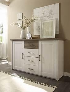 Kommode Flur Weiß : kommode luca sideboard wohnzimmer schlafzimmer wei braun 4 schubladen 2 t ren ebay ~ Yasmunasinghe.com Haus und Dekorationen