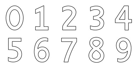 numbers   coloring page  clip art