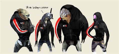 Fanart Mass Effect Talizorah Grunt Commander Shepard