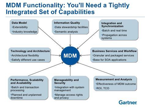 gartner master data management functionality
