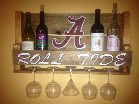 88820 Bama Fever Coupon Code by Alabama Roll Tide Reclaimed Pallet Wine Rack By