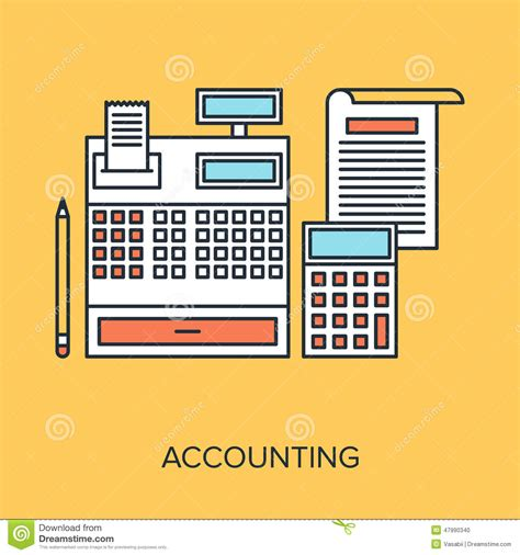 accounting stock vector image