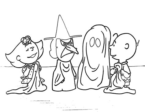 Halloween Coloring Pages Charlie Brown Halloween Coloring