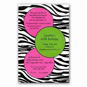Pink and Green Dots on Zebra Print Invitations | PaperStyle