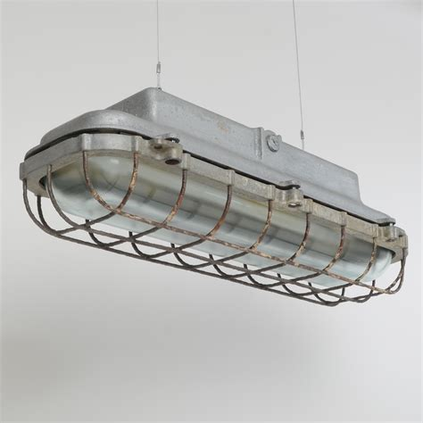 industrial ceiling light covers eow fluorescent lights trainspotters vintage