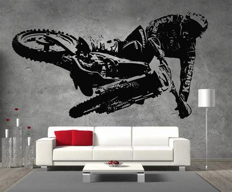 stickers deco chambre garcon motocross kawasaki motorbike vinyl sticker wall boys