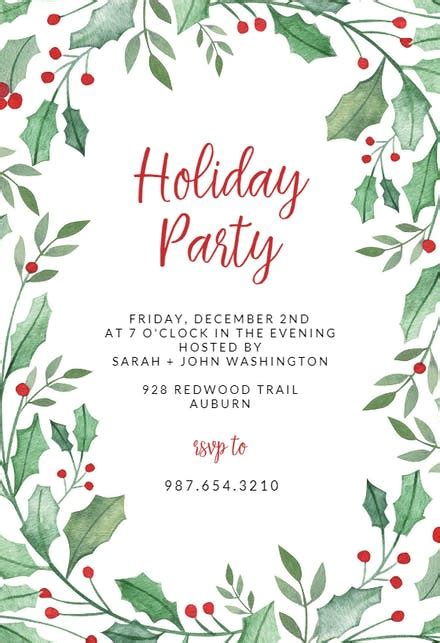 holiday invitation templates   island