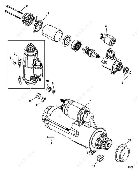 Bendix Starter Part Diagram by Mercury Mariner V 175 Efi 2 5l Starter Motor Solenoid