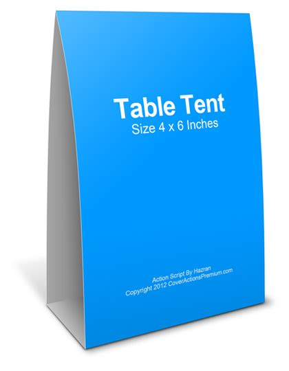 4x6 table tent template table tent cards km creative