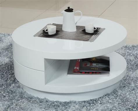 modern white round coffee table modern round white coffee table interior design ideas