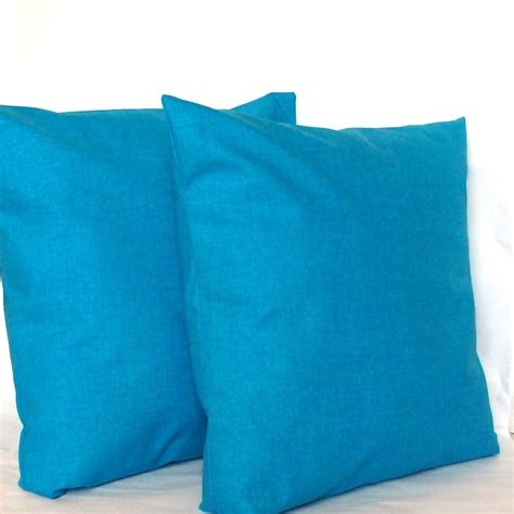 18x18 pillow covers blue pillow covers two 18x18 inch solid azure by
