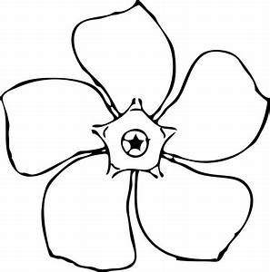 Simple Flower Black And White Clipart - ClipArt Best