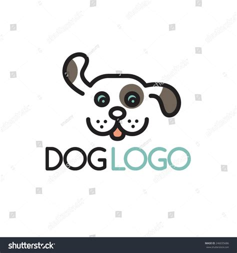 Happy Puppy Abstract Dog Logo Design Stock Vector ...