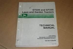 Jd John Deere Gt225  Gt235 Tractors Technical Manual