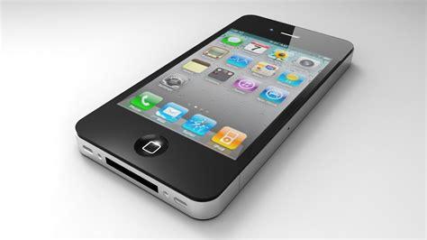 iphone model iphone 4 model 3d model 3d printable obj skp cgtrader