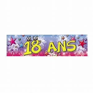 Anniversaire 18 Ans Deco : banni re anniversaire 18 ans soir e deux ou entre amis dans une ambiance et une d co original ~ Preciouscoupons.com Idées de Décoration