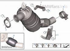 Pot catalytiqueFiltre particules Diesel BMW 3' E90 320d