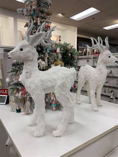 white standing deer decor  reg