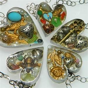 Handmade, Bezel, Resin, Hearts, U00b7, How, To, Make, A, Resin, Pendant, U00b7, Jewelry, On, Cut, Out, Keep