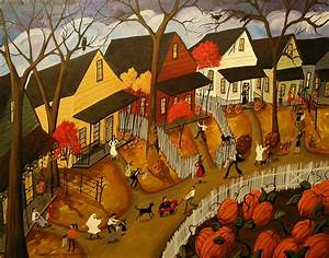 Trick Or Treat 2012 Painting by Debbie Criswell