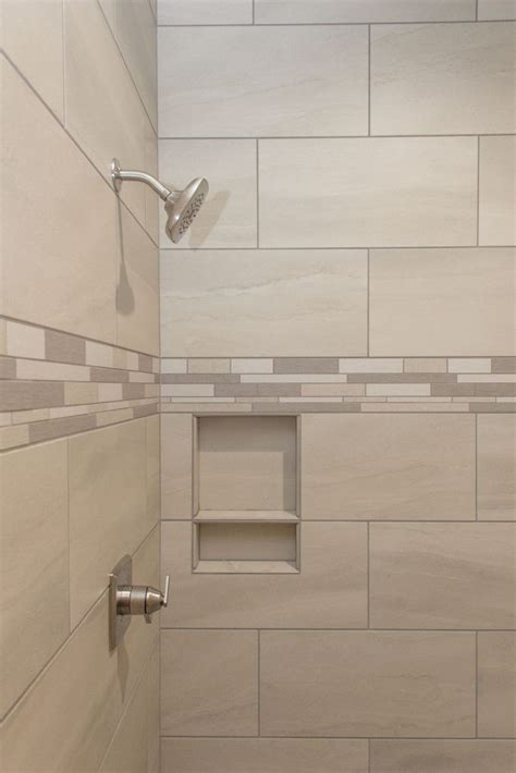 tiled shower angora crux  ivory shower accent